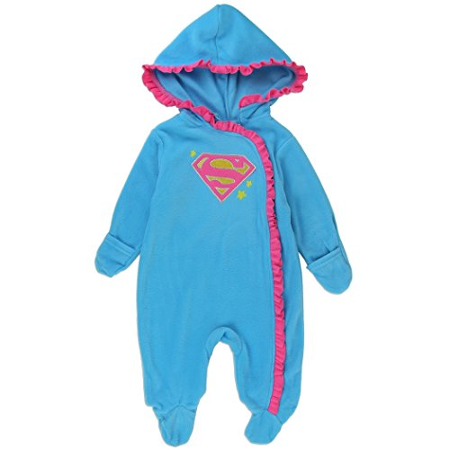 ' Batgirl and Supergirl Pram Suit (6-9 Months, Blue) ()
