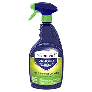 Microban 24 Hour Multi-Purpose Cleaner, Sanitizing and Disinfectant Spray, Fresh Scent, 32 Ounce (Pack of 2)