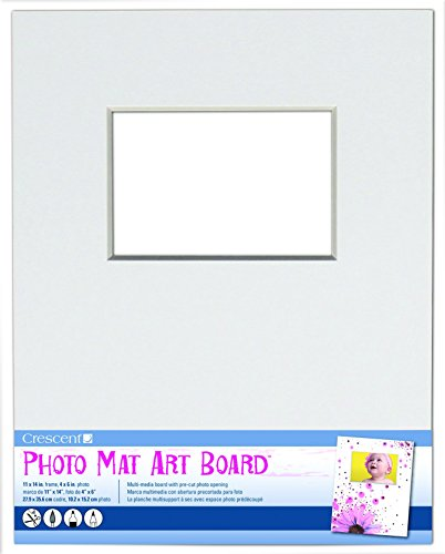 Crescent Cardboard Co White Photo Mat Art Board (1 Pack), 11'' by 14'' by Crescent Creative Products
