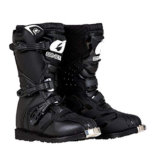 O'Neal Boys New Logo Rider Boot (Black, Size 6)