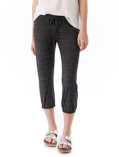 Alternative Women's Eco-Heather Cropped Pant, Eco Black, Small
