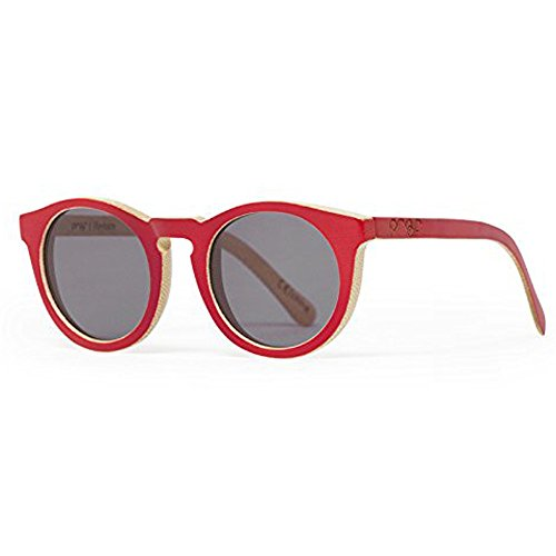 9a20316e44 Proof Eyewear Hayburn Wood HAYREDGRY Red Bamboo Gray Lens Sunglasses