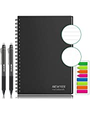 Reusable Smart Notebook, Letter Size Wirebound Notebook Cloud Storage Journal/Notepad/Diary Notebook [Included with 2 Erasable Pens,1 Microfiber Cloth,Colored Index Tabs]
