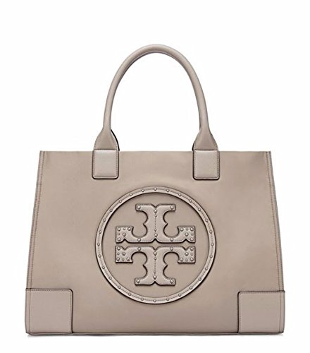 Tory Burch Ella Stud Tote Bag  Grey  39790 036