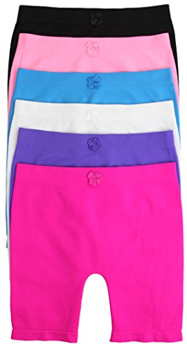 ToBeInStyle Girl's Pack of 6 Long Boyshorts (Small, SLBG184L) ()