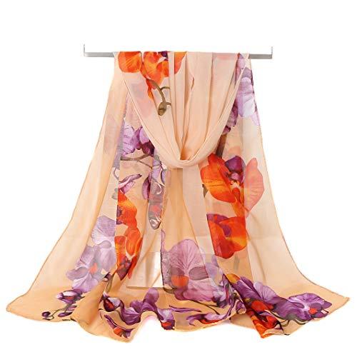 AliceLife Women's Chiffon Scarf Lightweight Fashion Sheer Scarfs Shawl Wrap Scarves (6&Y), 16050CM