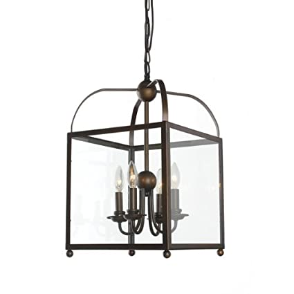Angelo Antique Copper Lantern Chandelier - Angelo Antique Copper Lantern Chandelier - - Amazon.com