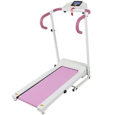 Best Choice Products Pink 500W Portable Folding Electric Motorized Treadmill Running Fitness Machine