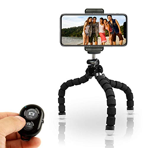 KobraTech Mini Cell Phone Tripod – TriFlex Mini – Flexible iPhone Tripod for Any Smartphone