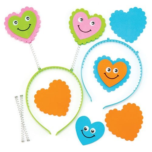 Valentine Party Loot Bags - Heart Head Bobber Kits Fun Valentines Party Bag Filler Loot Gifts for Kids (Pack of 4)
