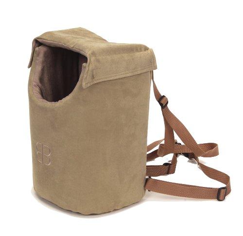 Petego Velvety Lenis Front/Backpack Pet Carrier, Large, Sage/Stone