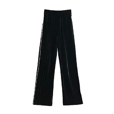Pantalones Anchos de Pierna Ancha para Mujer Comfy Sport Elastic Waist Jogging (Color : One Color, tamaño : S): Ropa y accesorios