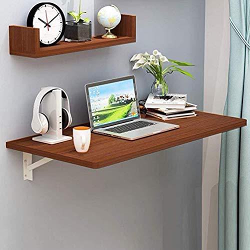 Fällbart bord av trä för väggmontering, multifunktionell studierum, kontorsverkstad, platsbesparare, matbord, maximal belastning 55 kg