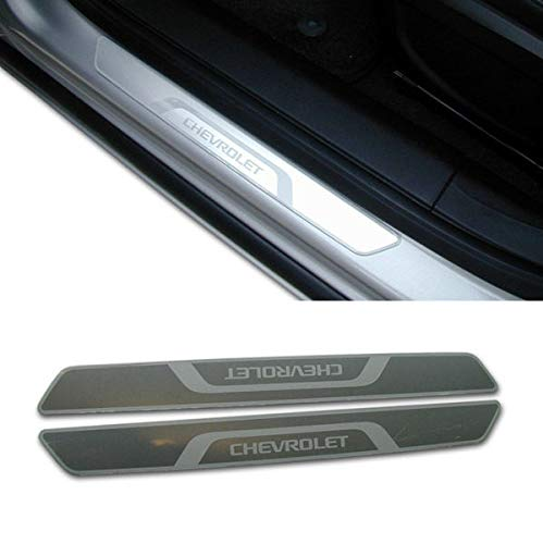 GM # 95954000 Door Sill Plates - Stainless with Chevrolet Script Logo