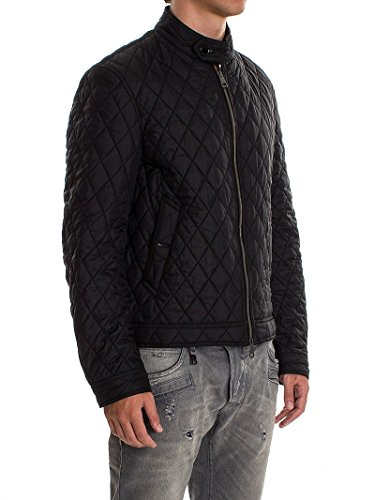 Burberry Brit Men S Howson Solid Black Diamond Quilted Basic