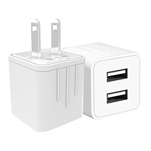 Smays Mini Dual USB Wall Charger and Power Adapter 10.5W and
