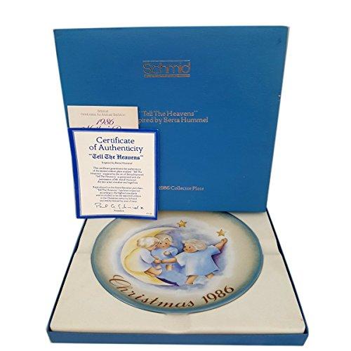 (Schmid 1986 Christmas Plate Tell The Heavens Berta Hummel)