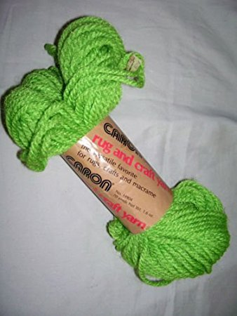 Lime (Green) Caron Heavy Rug Yarn.