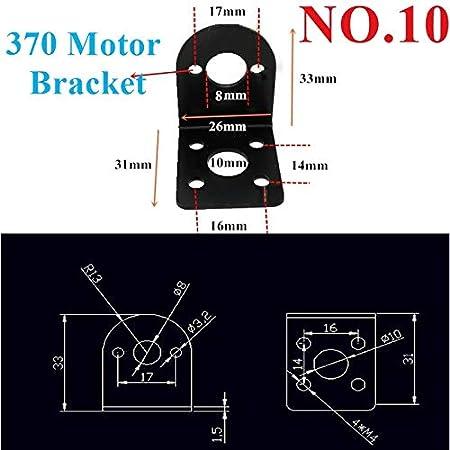 NO LOGO WJN-Motor Gr/ö/ße : 8 1pc 370 Series DC Motor 3V-24V High Speed Mute gro/ßes Drehmoment 3.7V 7.4V 12V RC Schiffsmodell Auto Motor