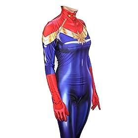- 41gBNHp 2B6CL - Texmex Cosplay Lady Captain Suit Halloween Costume Spandex Bodysuit Zentai