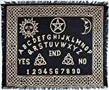"CircuitOffice Altar Tarot Cloth for Tarot Reading, Wicca, Pagan, Scrying, Magik, Wall Decoration, Table Cloth, Tapestry (24""x30"" Ouija-Board Altar Cloth)"