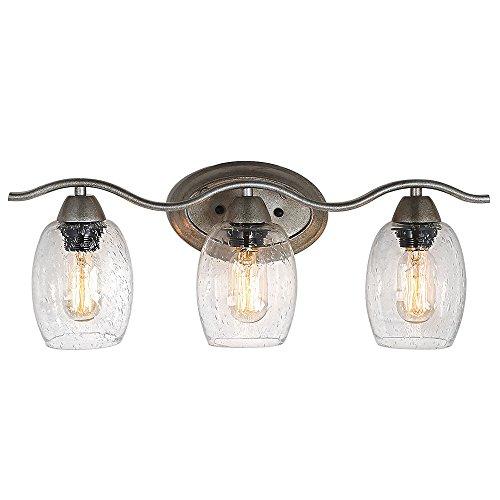 LALUZ 3-Light Bathroom Vanity Lights Wall Sconces Bathroom Lighting Wall Lamps