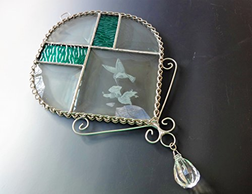 Beveled Stained Glass Suncatcher - Beveled Stained Glass Hummingbird Sun Catcher