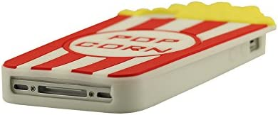 coque iphone 4 silicone pop corn