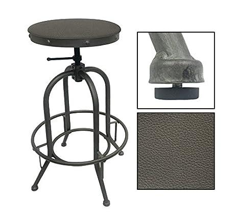 Groovy Amazon Com 1 Adjustable 26 30 Tall Rustic Metal Swivel Ibusinesslaw Wood Chair Design Ideas Ibusinesslaworg