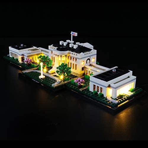BRIKSMAX Led Lighting Kit for Architecture The White House - CompatibleLego 21054 Building Blocks Model- Not Include The Lego Set