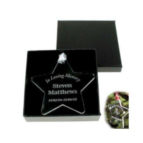 Personalised In Loving Memory Star Memorial Keepsake Personalised Gift Ideas