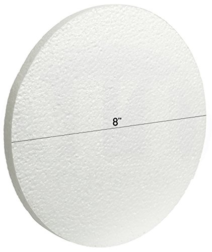 White Circle EPS Foam Craft 1/2 in Thick Discs by MT Products (8 Inch x 1/2 Inch)(12 - Circle Thick