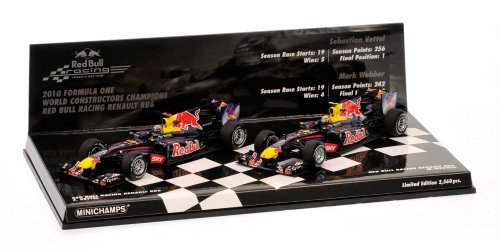 Red Bull Racing 1:43 Scale Renault RB6 2010 F1 Champions (Set of 2)