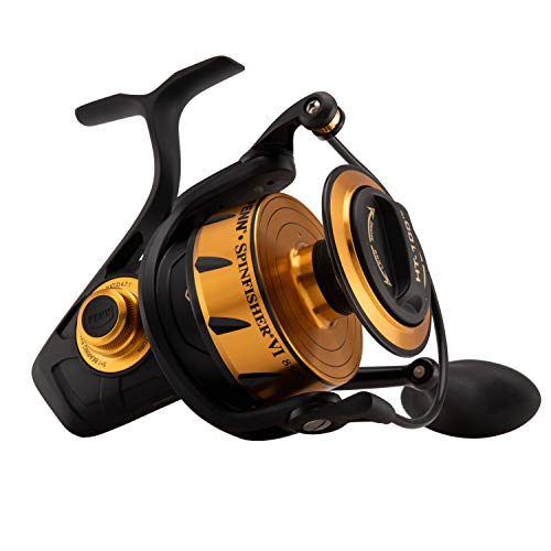 Penn, Spinfisher VI Saltwater Spinning Reel, 8500, 4.7:1 Gear Ratio, 42' Retrieve Rate, 6 Bearings, Ambidextrous
