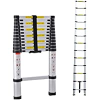 Inditradition Foldable Telescoping Ladder   Ultra Stable, Compact