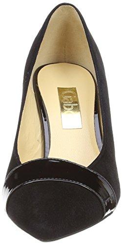Patent para Black de Suede tacón Zapatos mujer Gabor Black Awaq4xt