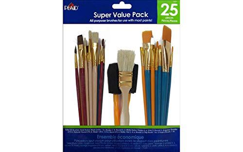(Plaid Enterprises, Inc. Plaid Value Pack Super Brushes, 44211 (25-Piece) )