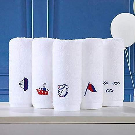 Andensoner Conjunto de 5 Toallas de Dibujos Animados de algodón Bordados Toallas de Mano Set de Toallas: Amazon.es: Hogar