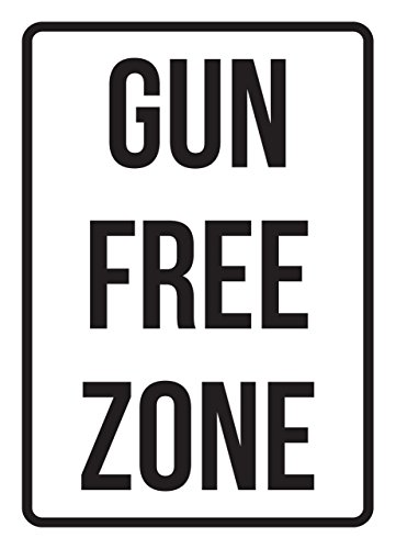 Gun Free Zone No Parking Business Safety Traffic Signs Black - 7.5x10.5 - Metal by iCandy Products Inc