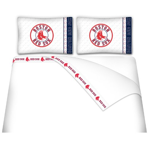 MLB Boston Red Sox Micro Fiber Sheet Set (Full)