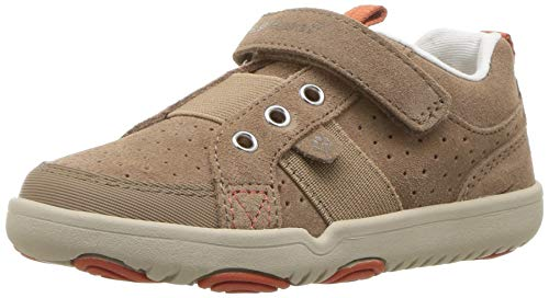 (Hush Puppies Boys' Jesse Sneaker, Stone, 7.5 Wide US Toddler)