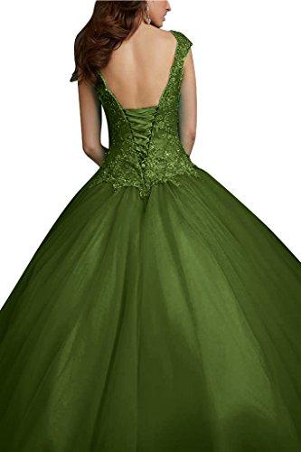 Satin Applikation Olivgruen Promkleid Abendkleid Ivydressing Spitze Schnuerung Damen amp;Tuell Hochwertig gqPfRPI