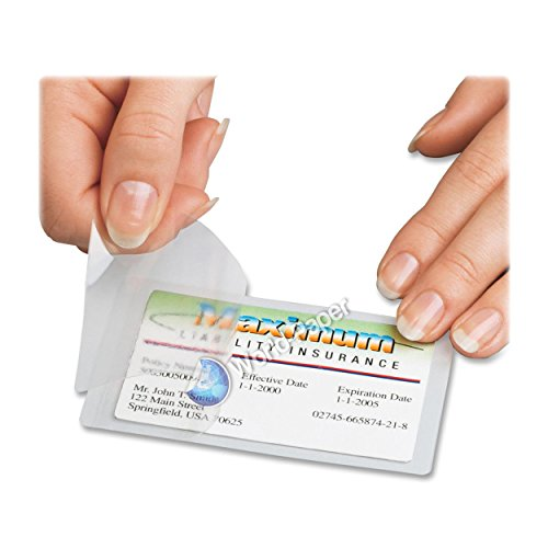 Thermal Laminating pouches School Cards, Business Card, Social Security Card, Credit Card 100/500/1000 Pack. (100 Pk)