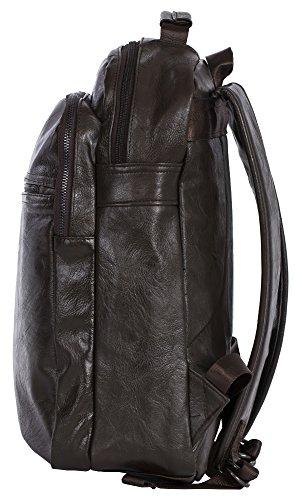 Unisex varie Handbag eccellente Zaino Borse Vegan Leather Coffee Shop in Big 4 dimensioni qualità Style di wECqvUnx