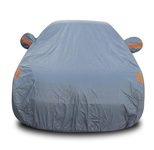 (HRFFCLH Car Cover Rainproof Sunscreen dustproof for Volkswagen: Passat, Golf, Sagitar, Magotan, Polo, LaVida, Beetle, Bora, Jetta, Scirocco, Sharan, Phaeton, Tiguan, Touareg, Touran,Gray,Passat)