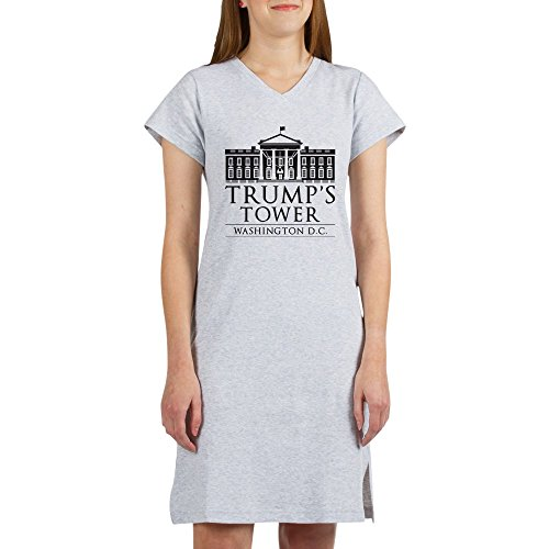 CafePress Trump's Tower - Women's Nightshirt, Soft Long Pajama Shirt, Cotton PJS/Pyjamas