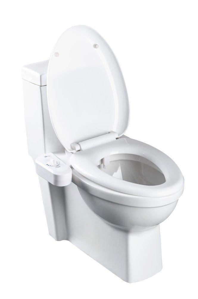 Bio Bidet Simplet BB70 Fresh Water Spray Non-Electric Mechanical Bidet Toilet Seat Attachment, Metal Hose, White by BioBidet (Image #6)