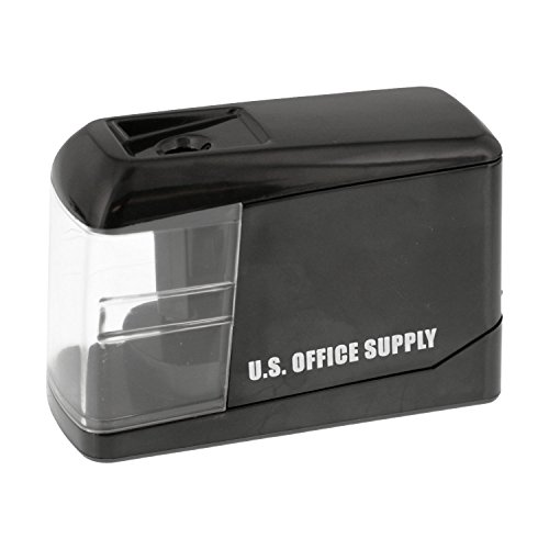 U.S. Office Supply Electric Pencil Sharpener - Battery or USB Powered - Sharpen Graphite and Colored Pencils - Home, School, Office