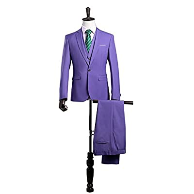 Aokaixin Men's Slim Fit Stylish One Button 3pc Suit for Evening Party Prom