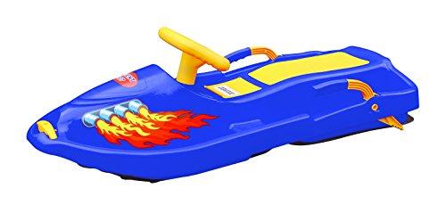 Plastkon Kids Snow Boat Steerable Sledge - Blue, 93 x 43 x 27 cm by Plastkon